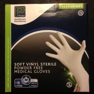 sterile vinyl gloves