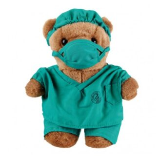 Dr Bear in scrubs